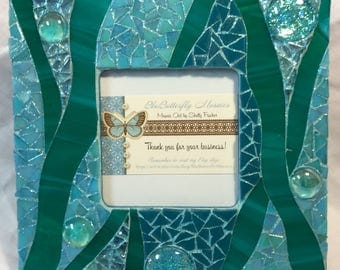 Teal & Blue Mosaic Picture Frame
