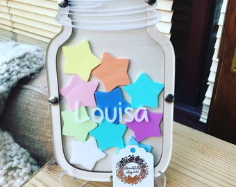 Personalised Reusable Childrens Reward Jars & Shapes With Tokens. Reward System.