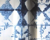 Shibori curtain panel