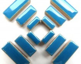 Ceramic Rectanlge - Thalo Blue - 50g (approx. 60 pieces)