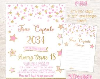 Twinkle Twinkle Little Star Time Capsule, Birthday Time Capsule