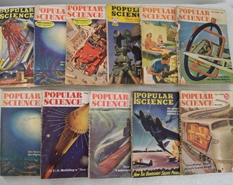 Lot of 11 eleven Popular Science magazines from the 1940s