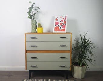 Chest of Drawers - Vintage Retro 50s 60s 70s