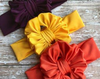 Sunflower, Orange , Plum minis on regular band.
