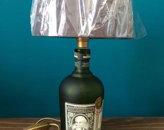 """SPIRIT LAMP - Diplomatico """"Spirit Lamp"""" / Lamp / Lampe / Desk Lamp / Office Lamp / Upcycled item"""