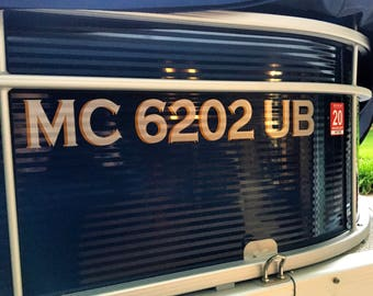 MC Boat Number Decals