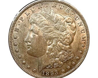 1893 Morgan Silver Dollar - AU / Almost Uncirculated