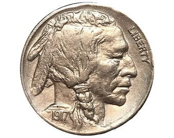 1917 P Buffalo Nickel - Gem BU / MS / UNC
