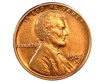 1927 D Lincoln Wheat Cent - Choice BU / MS / Unc
