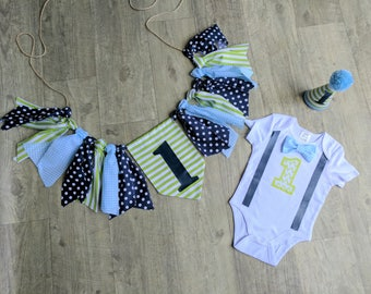 """The  """"Happy Days"""" Baby Boy First Birthday Outfit, Popular 1st Birthday, Whale Blue Print, Cake smash, 1st Birthday, Birthday Boy, whale"""