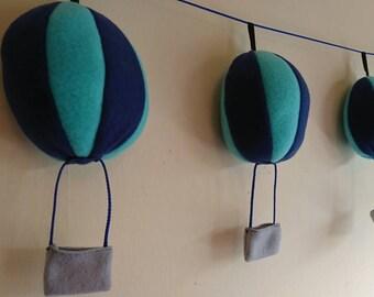 Hot air balloon garland, nursery decor, bedroom bunting