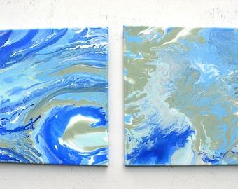 Ushuaia Acrylic Painting Pair