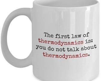 Funny Physics Mug - Physics Teacher Gift Idea - First Law Of Thermodynamics - Science Geek Present Idea - Physicist