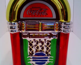 2002 Coca Cola Rock and Roll Jukebox Cookie Jar by Gibson