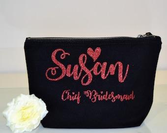 Personalised makeup cosmetic bag