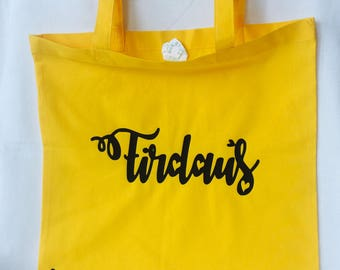 Personalised tote bag party bags