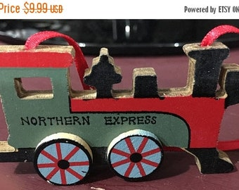 SPRINGSALE Vintage 1989 Kurt S. Adler Northern Express Wooden Ornament
