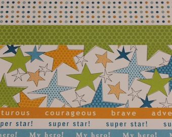 Planner Cover Courageous Stars Planner Cover Custom, Happy planner cover, ARC cover, Discbound, Any size, custom planner cover-blue, orange