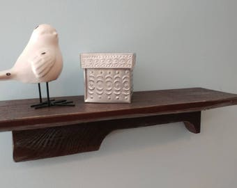 """Small shelf made from pallet wood. 15"""" to 24"""" Your choice in size (same price for any size)"""
