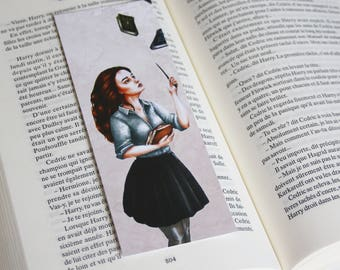 Bookmark Art drawing print, harry potter, hermione granger illustration bookmark bookmark