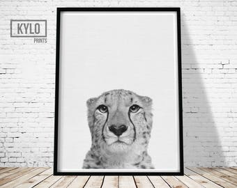 Animal Print, Cheetah Print, Wall Art, Printable Art, Instant Download, Nursery Animals, Nursery Print, Nursery Decor, Cheetah, Animal Art