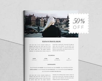 Media Kit Template for MS Word and Photoshop | 3 Pages | Pitch Kit | Branding Kit Templates | Social Media Kit | Marketing Resume