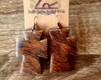 Hair on cowhide Earrings