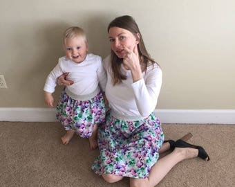 Matching skirts Mom and daughter skirts Mother and daughter outfits Mommy and me outfits Toddler skirt outfit Matching set skirt