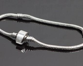 Silver European style Beads Bracelet