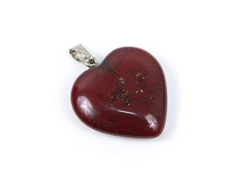 Heart-shaped natural turquoise pendant