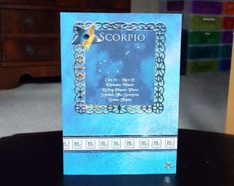 Scorpio Horoscope Birthday Card - Zodiac/Star Sign -luxury personalised unique quality special astrological UK