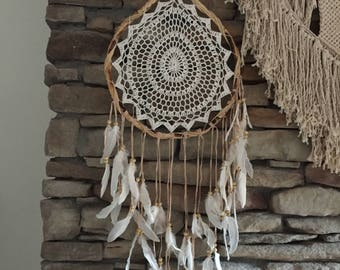 Boho Crochet Dream Catcher
