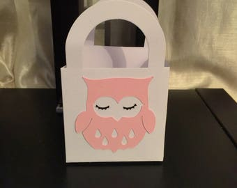 Owl favor bags owl party bags owl birthday bags owl baby shower bags favor bags party decor cute owl candy bags