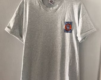 Vintage Grey 90s Embroidered Kentucky Wildcats T-Shirt XL