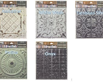 7Gypsies Architextures™ Tin Tiles - Choose Style (5 Styles Available)  Look of Real Tin Tiles.  See Description