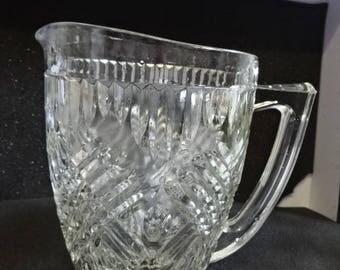 Glass Jug/Pitcher/Vintage