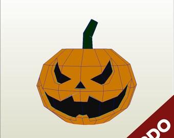Jack Lantern Halloween Pepakura PDO