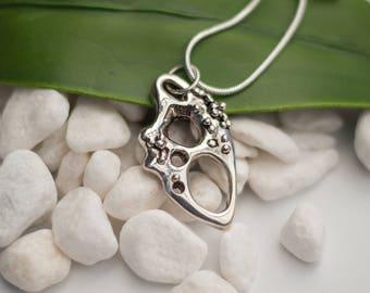 Sterling silver organic pendant