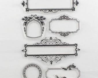 Clear stamps 6 pezzi/pieces set frames/frames