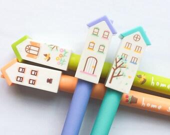Gel pen small house