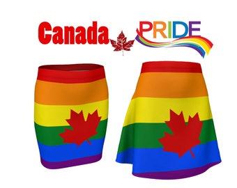 Canada gay pride skirt, gay pride skirt, Canada Day skirt, rainbow Canada skirt, Happy Canada Day