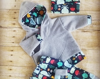 Newborn sweatshirt outfit, baby boy, baby shower gift, jogger outfit, hoodie