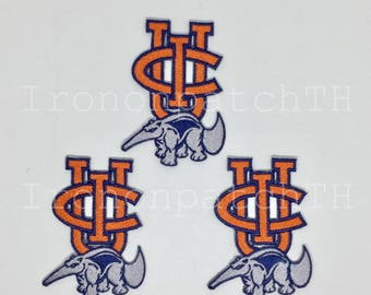 California Irvine Anteaters Embroidered Iron On Patch - Set 3 PCS.