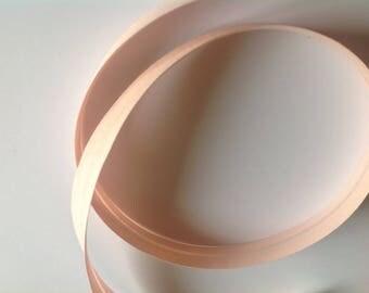 Ribbon 18mm pink powder no83 through, sold by the yard