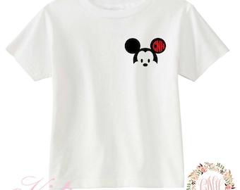 KIDS Monogram Mickey Shirt