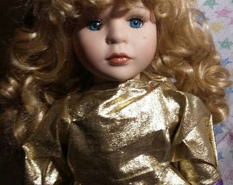 Porcelain Mermaid doll