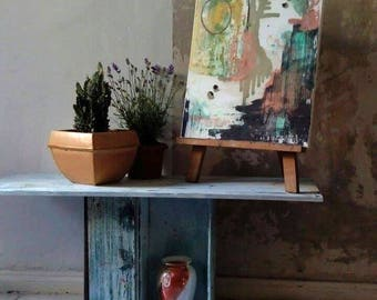 Vintage style original design handmade cabinet/small table + paint