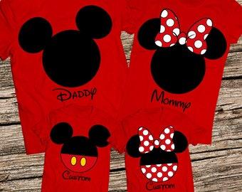 Family shirts for disney, Family disney world shirts, Matching Family Disney Shirts, Personalized Disney Shirts for Family and Women, Disney