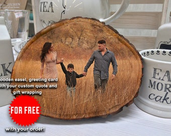 Photo Transfer, Wood Photo Transfer, Picture On Wood, Personalized Gift Women, Personalized gift men, Anniversary Gifts For Men