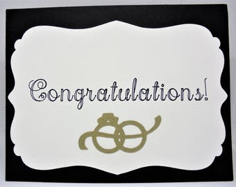 Wedding congratulations card, wedding gift, wedding card, congratulations gift, congrats card, blank card, handmade greeting card